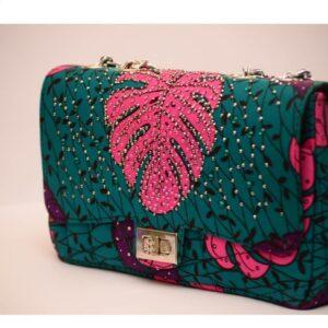 Ankara Stoned Handbag (large)